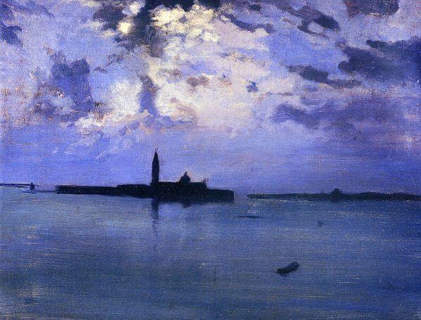 """Jules Bastien Lepage 'Nuit sur la Lagune"""" Venise"""
