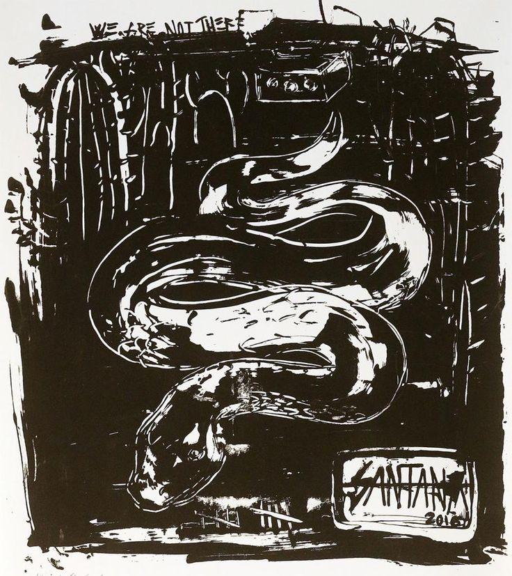 Snake by Sally Santana #art #artist #painting #drawing - Beauton Art Gallery - http://beautonart.com   http://beautonart.dk