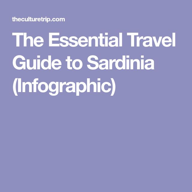 The Essential Travel Guide to Sardinia (Infographic)