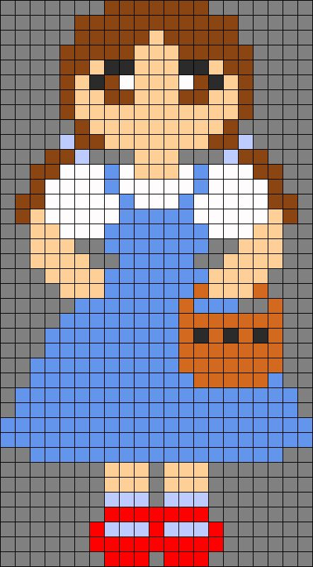 Wizard of Oz Dorothy Gale Perler Bead Pattern by MoneyPowerGlory