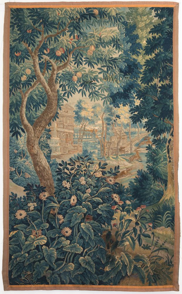 Tapestries An Antique Verdure Tapestry Fragment