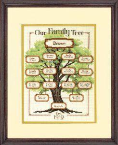 family tree cross stitch kits uk - Google Search