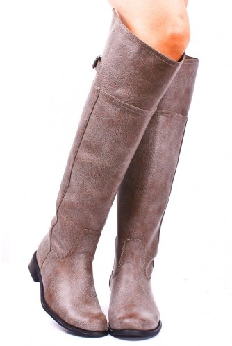 Stone grey boots! I don't have any grey yet for Fall...: Leather Round, Tall Boots, Rider Boots, Round Toe, Riding Boots, Fall Boots, Toe Rider, Faux Leather, Grey Boots