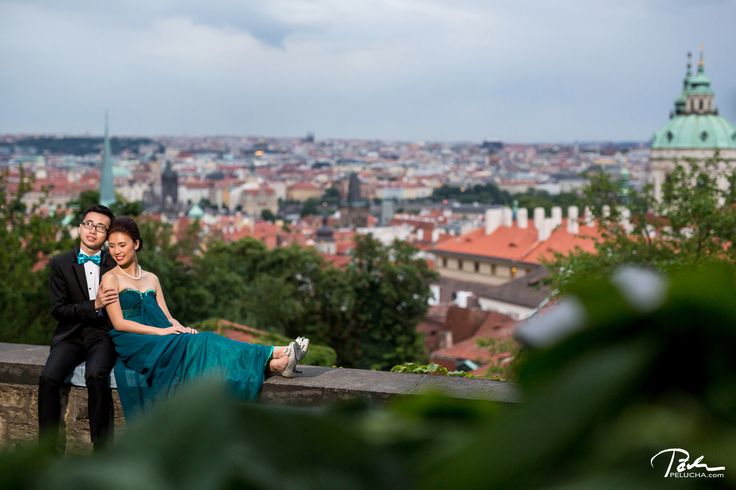 Pre wedding photo shoot in evening prague  #castle #prague #prewedding