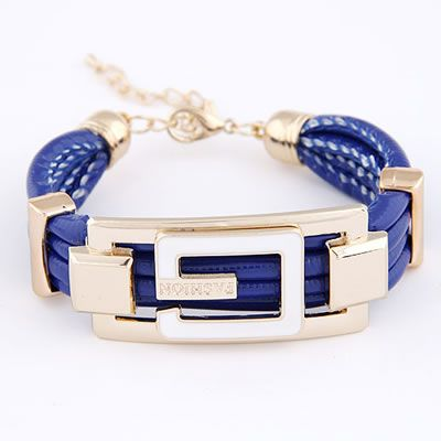 G-Fashion leather bracelet in blue  Code: A28550  Price: R40