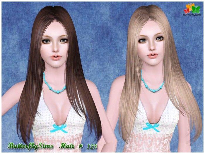 B Fly Sims Long Hair 123 by B-fly...