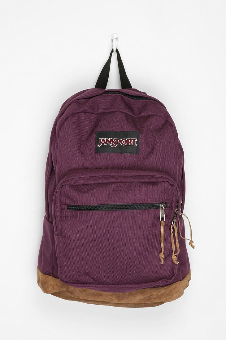 classic purple jansport bookbag.
