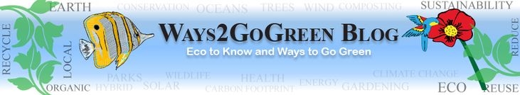 The Ways2GoGreen Blog - with ideas and articles on how to contribute to sustainability (ways to go green).