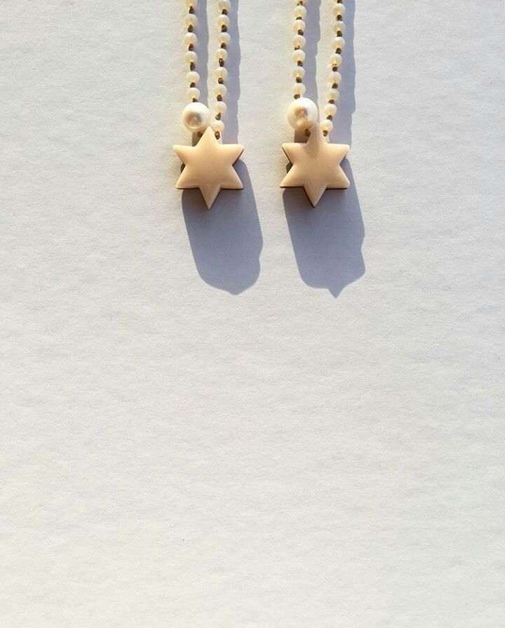 Handmade star necklaces by L_L.♡ #handmade #star#necklaces #design #gold #polymer#clay#polymerclay #pearl #crystal #beads#pale#pink#calliopil_l #L_L @calliopi.l_l_ #greekdesigners #jewelrydesign#instajewelry