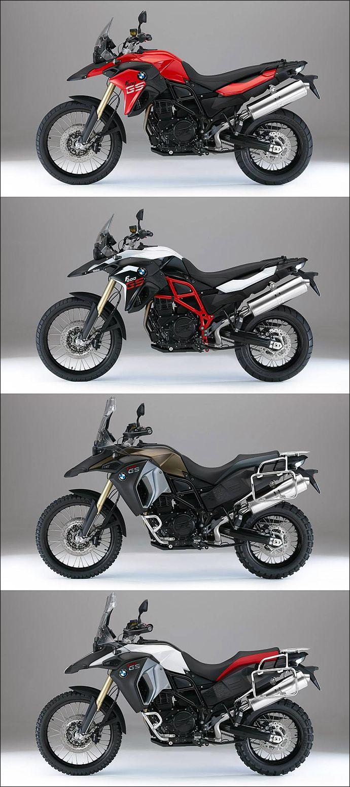 BMW F800GS - 2014 colors * racing Red * Light white uni/Black Storm metal - Adventure : * Kalamata metallic matt * Alpine white