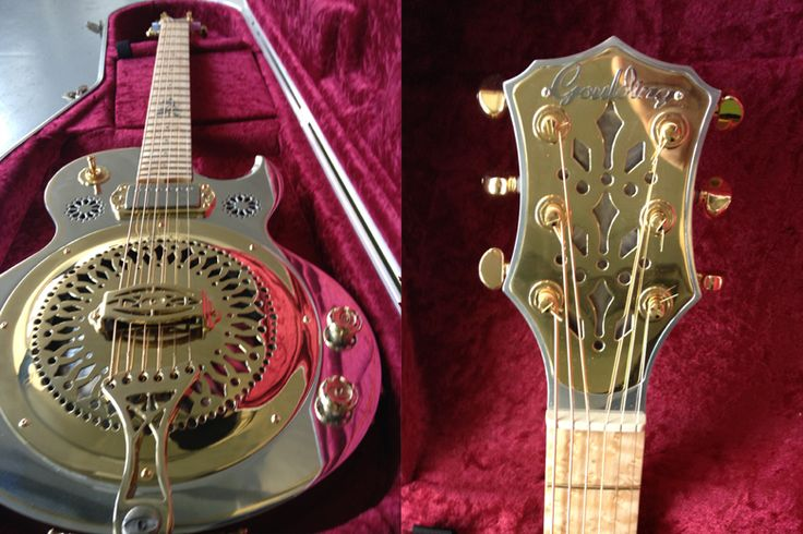 Guitar Blog: Goulding Resonator guitar handmade in aluminium