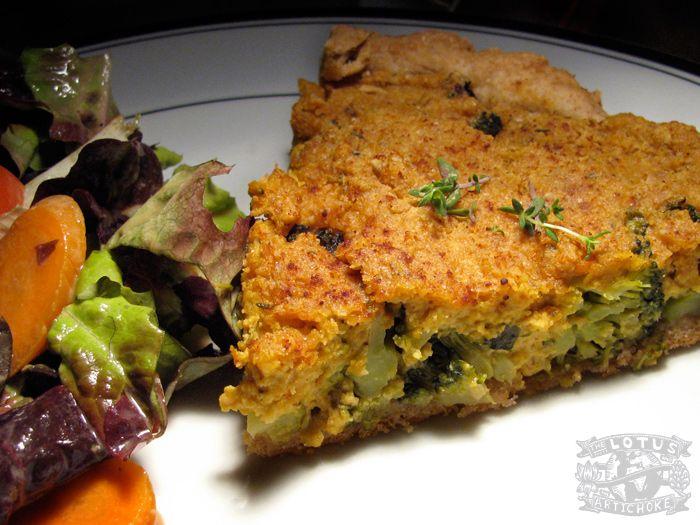 Vegan Quiche with Broccoli - The Lotus and the Artichoke