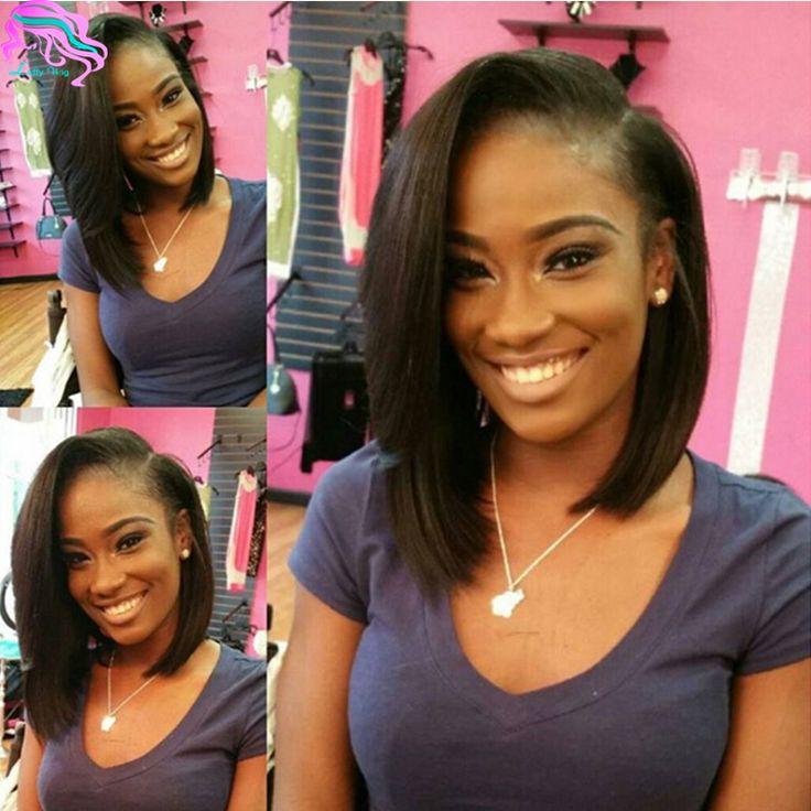 Top Quality Brazilian U Part Human Hair Wigs Bob Style Lace Front Wigs Glueless U Part Bob Wigs For Black Woman Natural Color