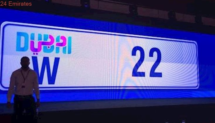 Car number plate W22 sold for Dh2.62m at Dubai auction