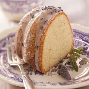 Almond Lavender Cake Recipe  This eye-catching, moist cake has a terrific buttery texture and a lovely lavender flavor