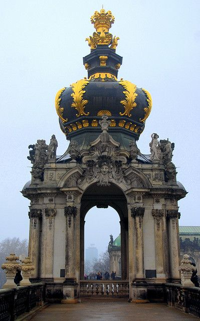 Crown Gate at Zwinger, Dresden (by RC Designer) Germany ♥ Stunning, classic jewelry: www.bluedivadesigns.com #bluedivagal
