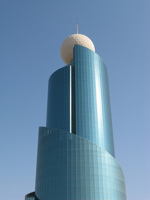 ✯ Etisalat Building - Sharjah, AE - Looks like a Giant Golf Ball on the Top....