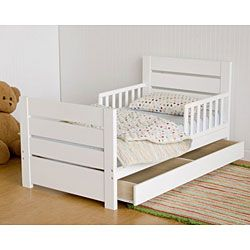 Modena Modern White Toddler Bed | Overstock™ Shopping - Great Deals on Kids' Beds