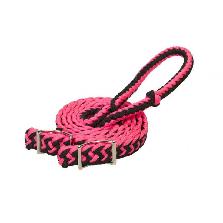 WEAVER NYLON BARREL REINS PINK These colourful braided barrel reins are a must for any serious barrel racer. $28.95