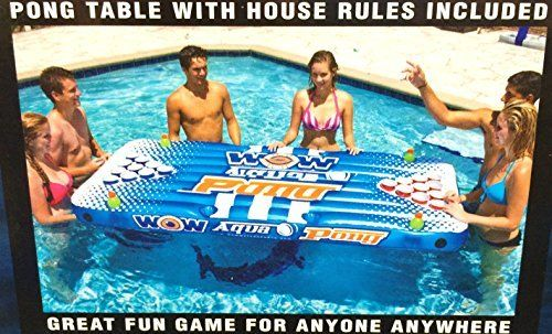 Wow Watersports Aqua PongPool Lounge Beer Pong Inflatable with Social Floating The Air Pong Table  The Portable Inflatable Beer Pong Table -- Visit the image link more details. Note:It is affiliate link to Amazon.