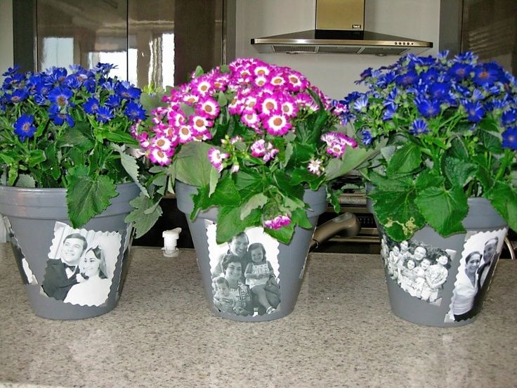 Flower pot centerpiece ideas made these photo