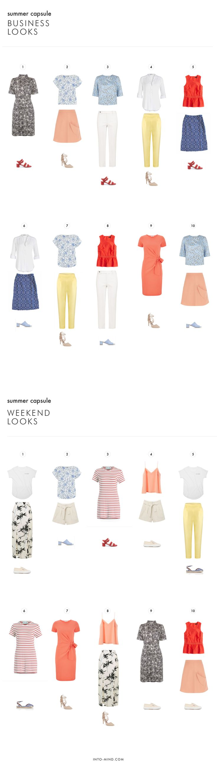 20 Pieces 20 Outfits: Summer Capsule Wardrobe for Work and Play