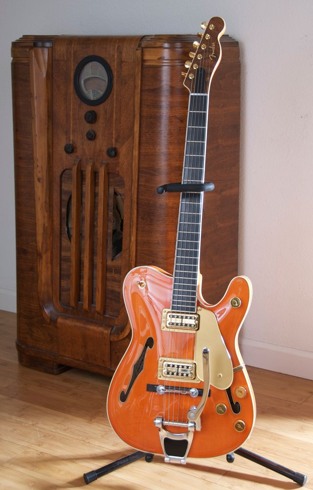 Beautiful Tele / Gretsch hybrid guitar. @Brittany Horton Horton Fender: make this guitar!