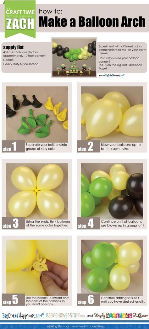 How To Make Balloon Arches ~ Step by Step Instructions!