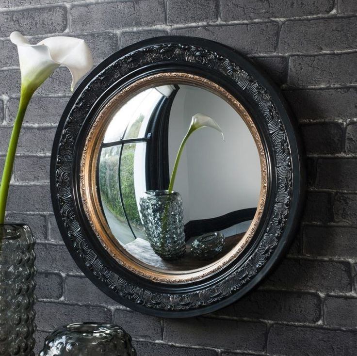 Gallery Direct Langford Convex Black with Gold Round