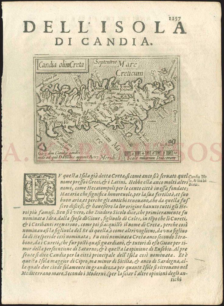 """Doglioni Giovanni, """"Candia olim Creta"""", from """"Anfiteatro di Europa"""", printed in only one edition in 1623"""