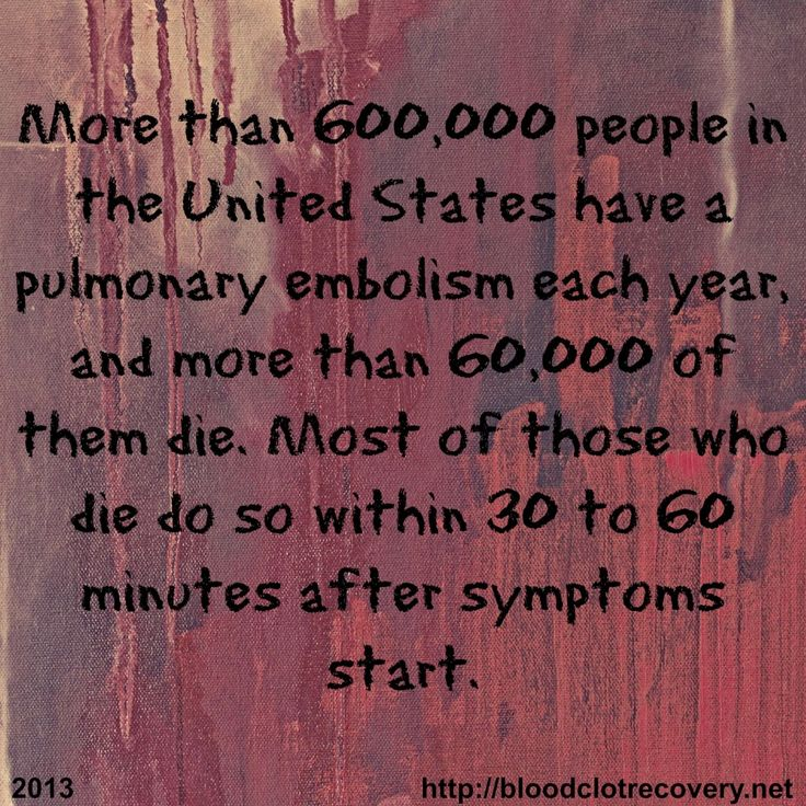 The pain that kills - Blood Clot Recovery Network - http://bloodclotrecovery.net/the-pain-that-kills/