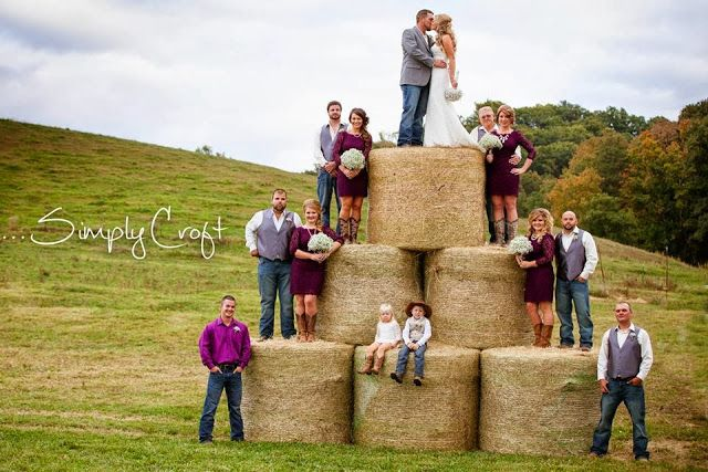 Hay Bales... Wedding or you could even do family pictures.