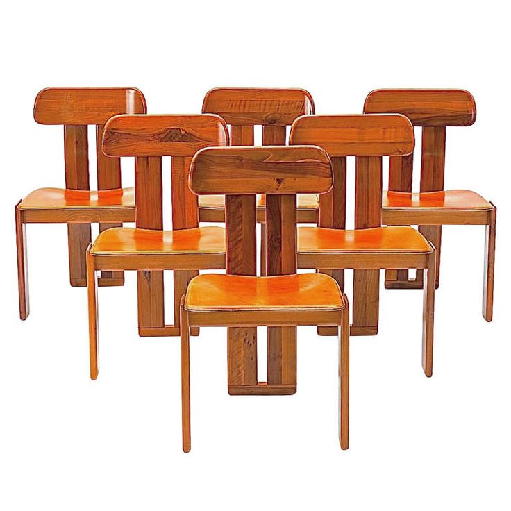 Six italian dining chairs tobia afra scarpa for for B b italia dining room chairs