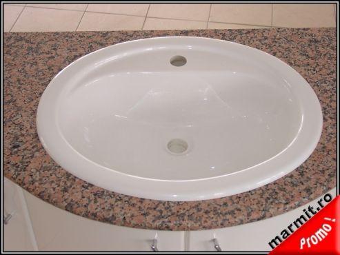 Lavoar oval incastrat Arezzo din compozit marmura, obiecte sanitare, cazi de baie, cazi compozit, cazi otel, cazi acril, cabine de dus, lavoare baie, lavoare compozit, chiuvete baie, mobilier baie, chiuvete bucatarie, vase wc, wc suspendat, bideuri suspendate, baterii baie, robineti baie, baterii bucatarie