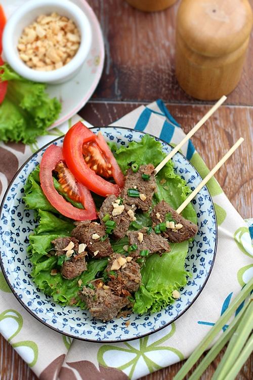 Vietnamese-inspired Lemongrass beef skewers