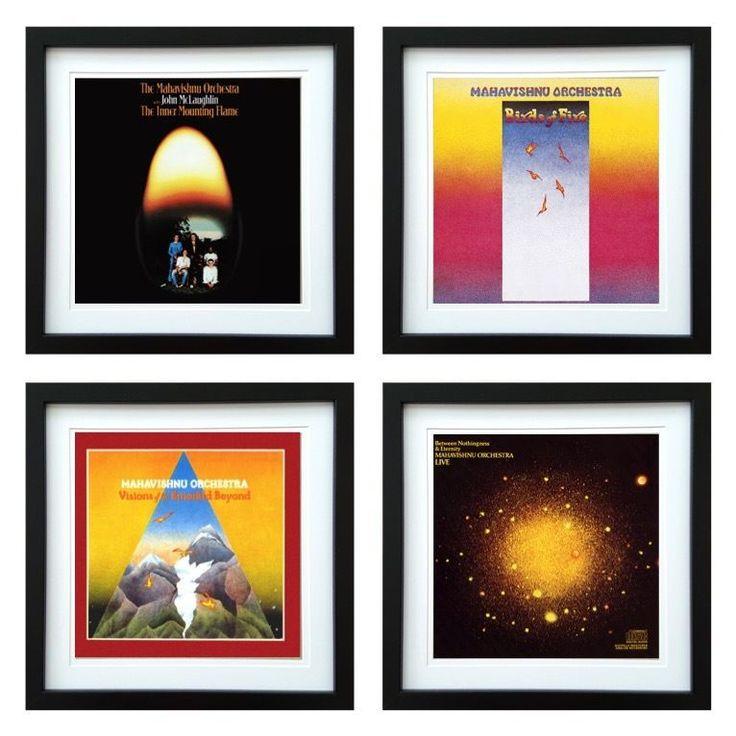 Mahavishnu Orchestra | Framed Album Art Set of 4 Images | ArtRockStore