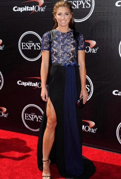 Alex Morgan at the ESPYS. (Instagram)