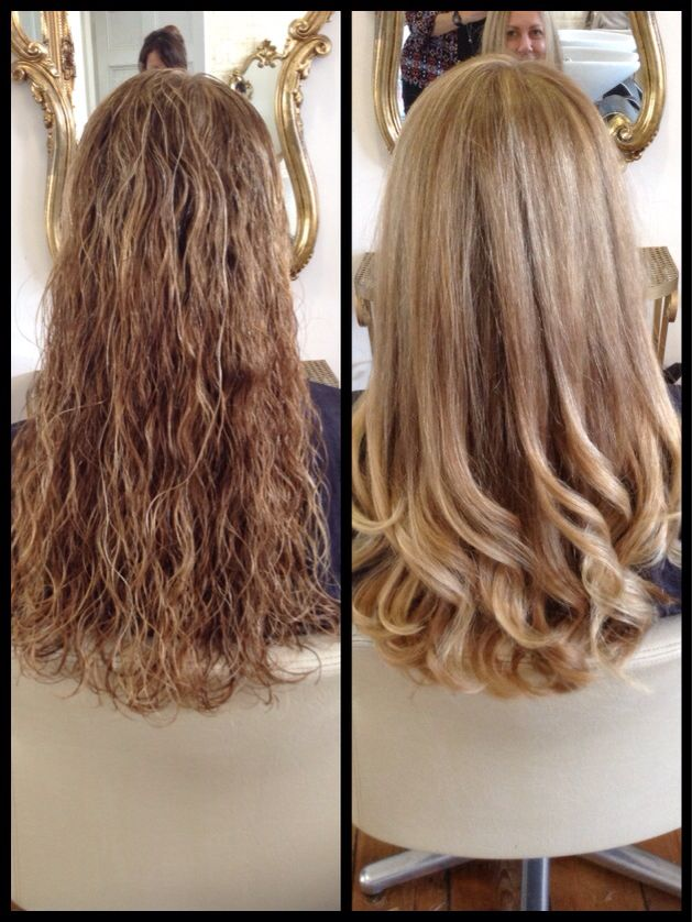 Smooth curly blowdry