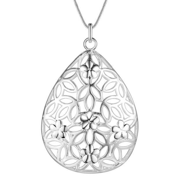 Оптовая посеребренные шарм jewelrys Ожерелье, бесплатная доставка 925 штампованные ювелирные изделия кулон выдалбливают сердце Х AN694