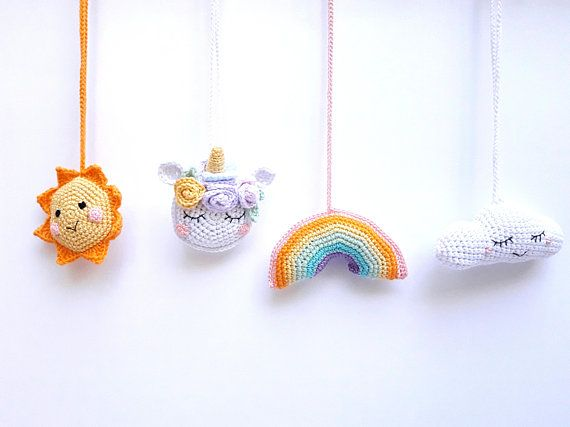 baby gym toy,newborn gift children/'s decoration rainbow happy happy rainbow toy,organic teething toy Rainbow Baby toy Crochet rattles