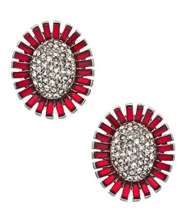 Ben-Amun Ruby Sunflower Earrings #maxandchloe