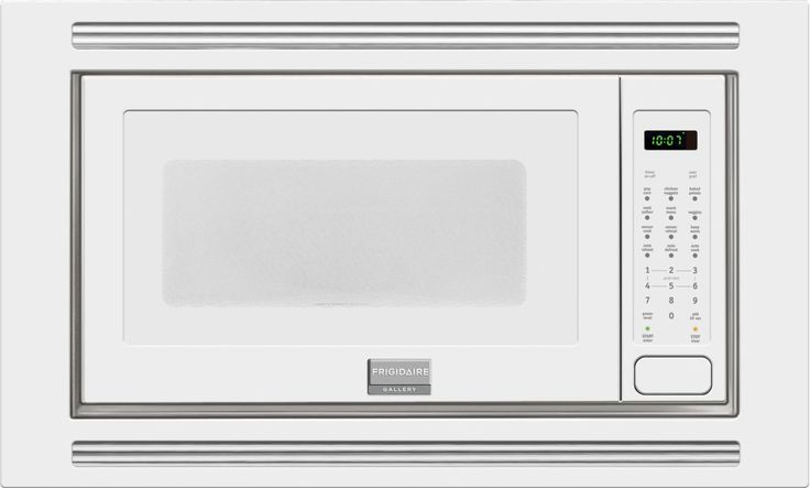 Frigidaire FGMO205K 2 Cubic Foot Built-In Microwave with 1200 Watts Effortless White Microwave Ovens Microwave Built-In