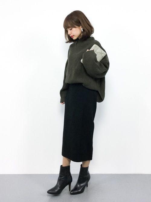 REAL CUBEのニット・セーター「ウォッシャブルボトルネックウールニット ドロップショルダーREAL CUBE」を使ったeriko(ZOZOTOWN)のコーディネートです。WEARはモデル・俳優・ショップスタッフなどの着こなしをチェックできるファッションコーディネートサイトです。