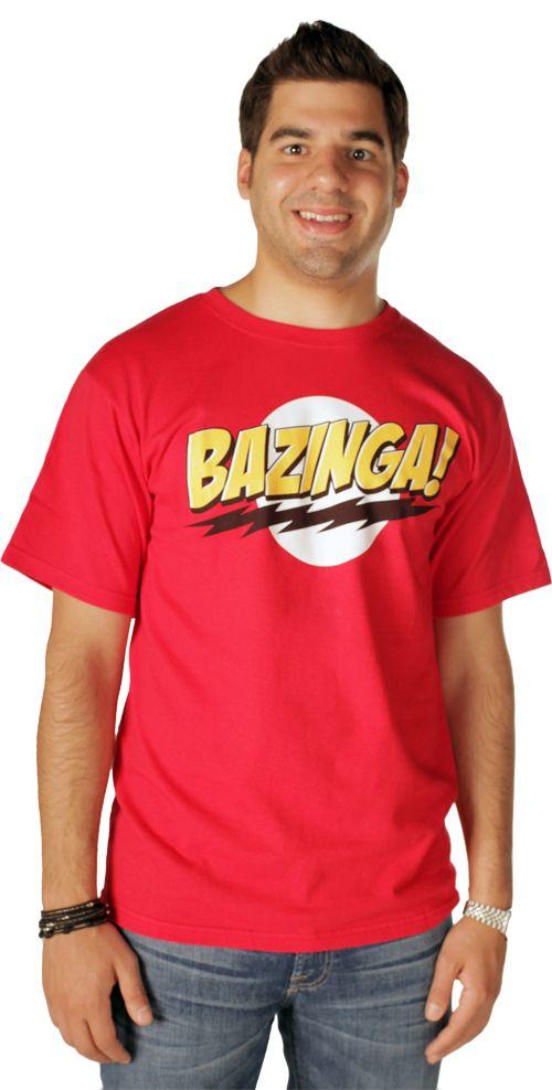 The Big Bang Theory Bazinga! Red Adult T-shirt  $17.95