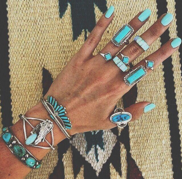 Aztec & turquoise.