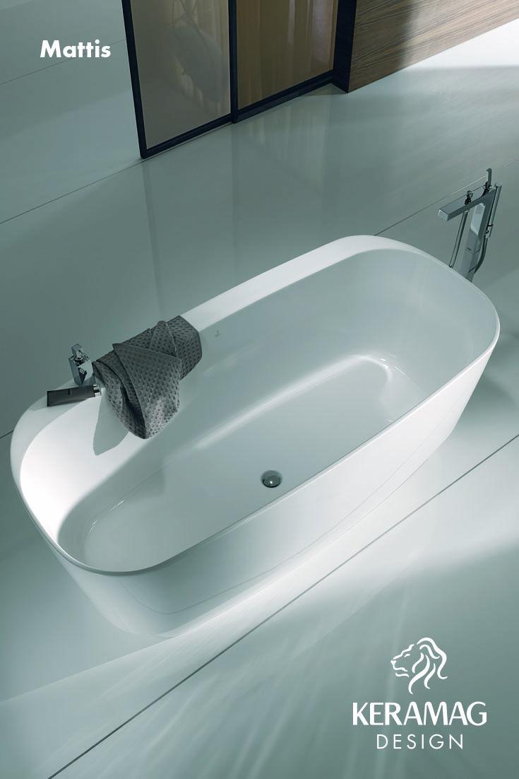 The Mattis bathtub by Keramag Design UK. Find more at: http://www.keramagdesign.com/