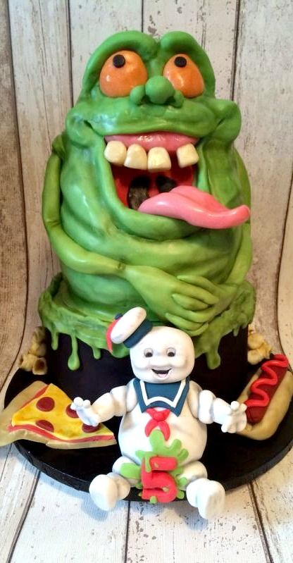 Ghostbusters Cake #coupon code nicesup123 gets 25% off at  www.Provestra.com and www.leadingedgehealth.com
