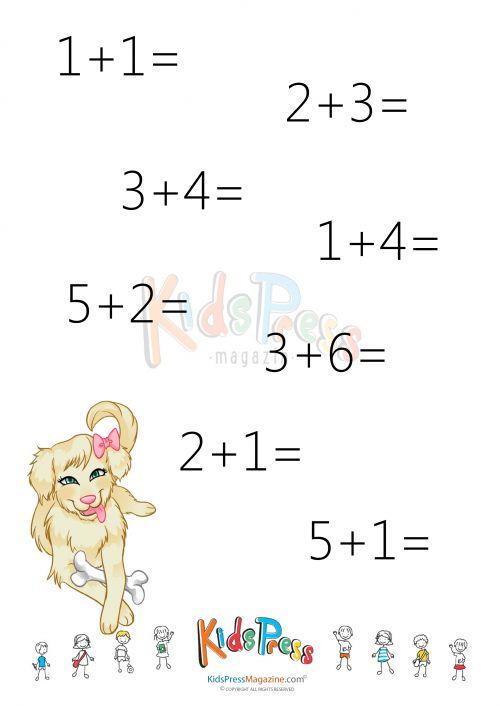 Addition Facts Worksheet: Add to 10 – #3   #beginner #math #addition #sum #to #ten