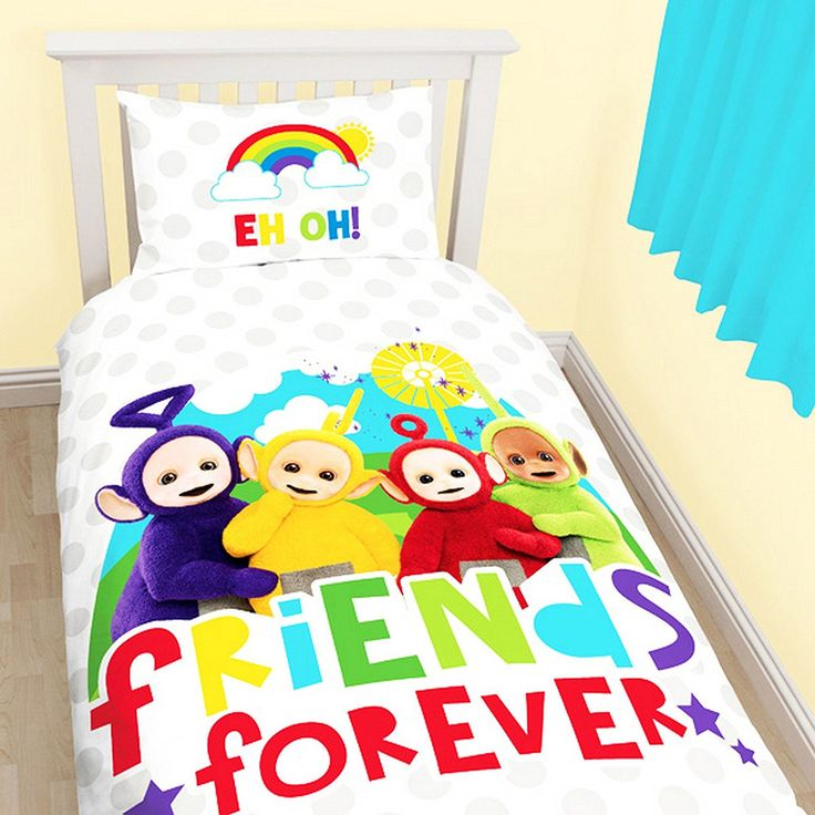 Teletubbies Childrens/Kids Official Playtime Reversible Single Duvet (Twin) (Multicoloured) //Price: $15.55 & FREE Shipping //     #hashtag4