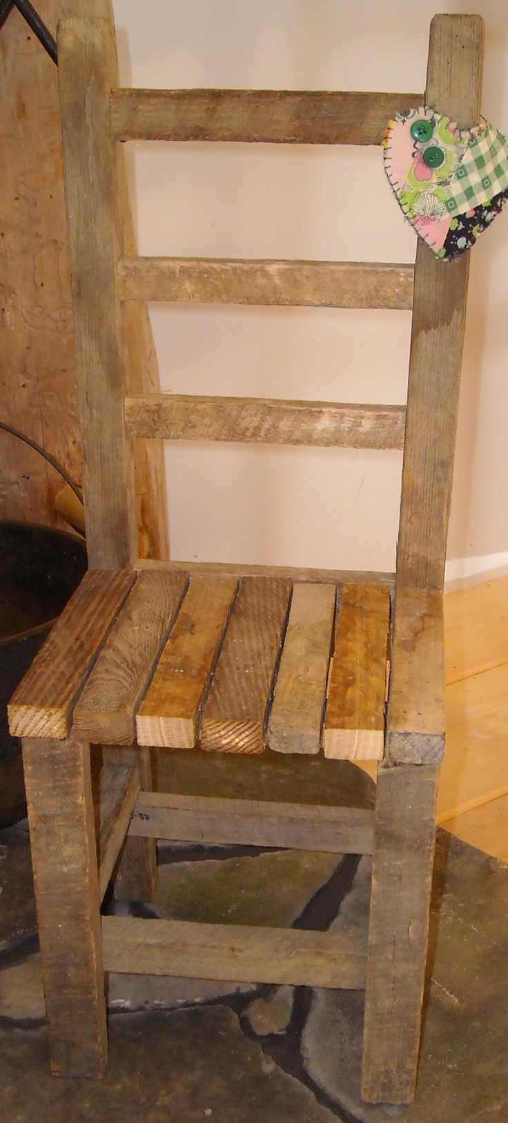 Little Chair My Son Made Using Old Tobacco Sticks